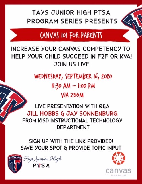 canvas for parents fall 2020 program